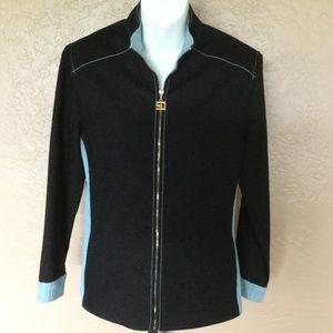 St. John Sport Marie Gray Jacket S EUC
